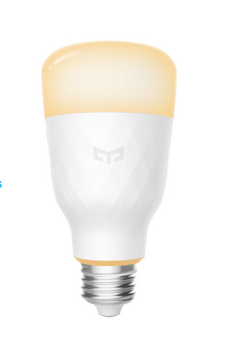Yeelight Smart WiFi Light Bulb 1S, Dimmable White Light Bulb, Compatible with Alexa , Homekit & Google, A19 LED Bulbs