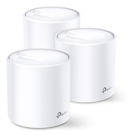TP-LINK AX3000 Whole Home Mesh WI-FI System  -  Up to 3000Mbps, Work with Echo/Alexa, OFDMA and MU-MIMO , Pack of 3