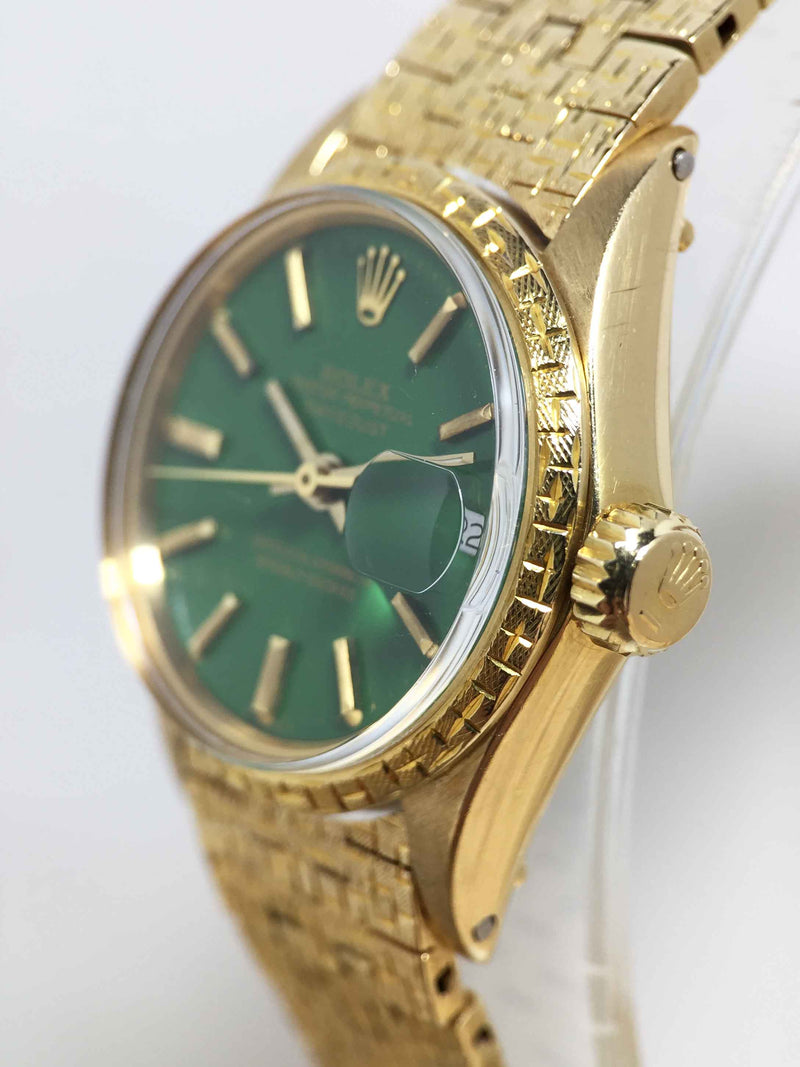 1975 Rolex Ladies Datejust Stella Green Ref. 6702