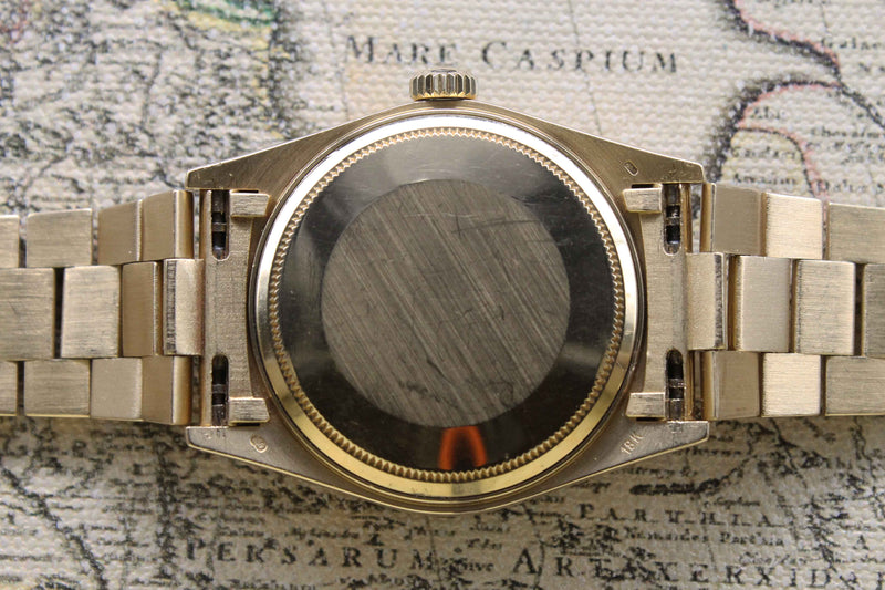 1985 Rolex Day Date Bark Finish Onyx Dial Ref. 18108