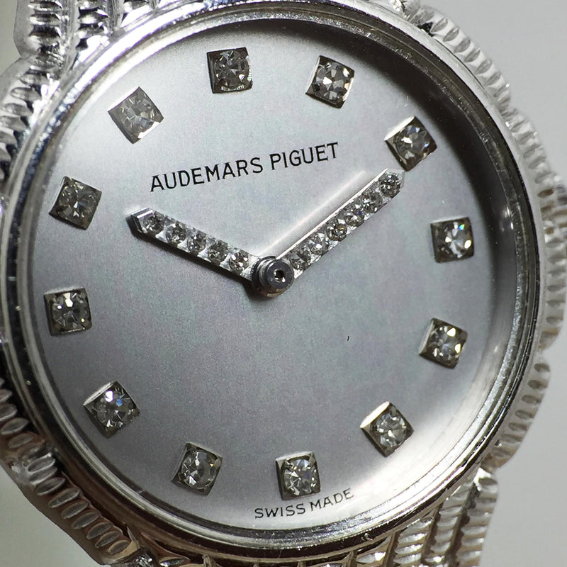 1989 Audemars Piguet Ladies 18K White Gold Watch with Diamonds Ref. 79195BC