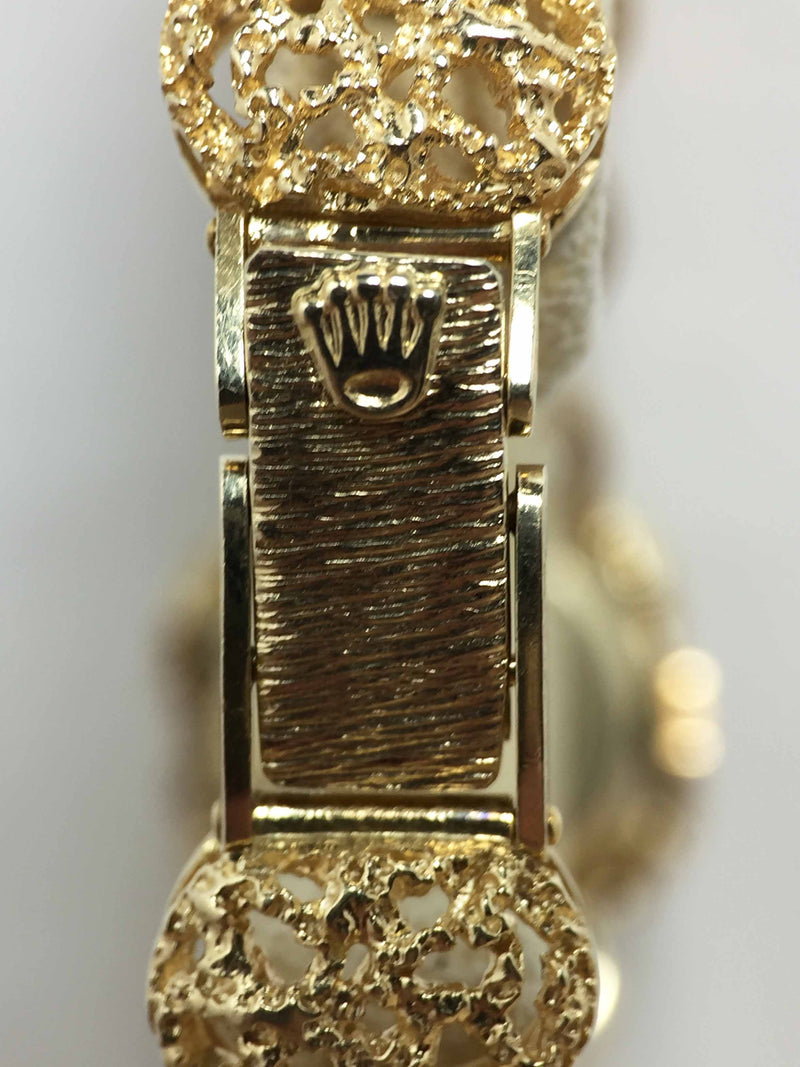 1954 Rolex Ladies 18K Nugget Style Cage Watch Ref. 8092