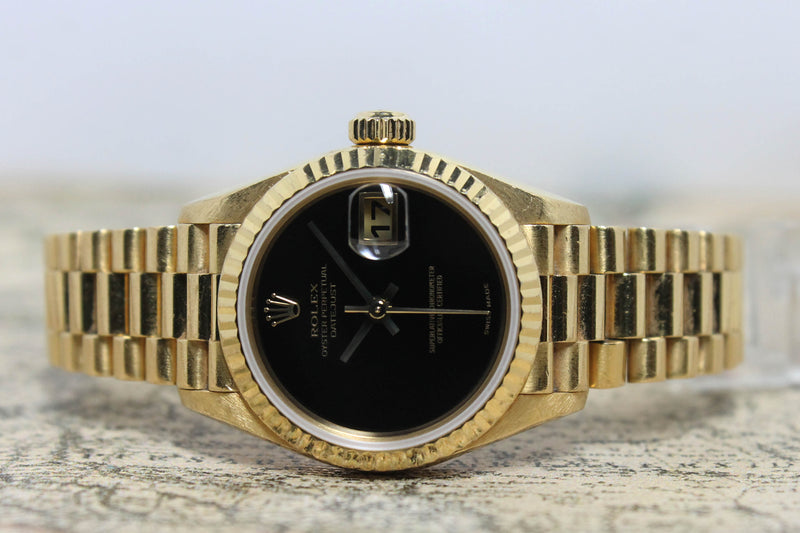 1999 Rolex Lady Datejust Onyx Ref. 79178 (with Papers)