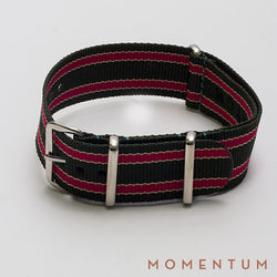 Nato Strap Green & Red Striped - Momentum Dubai