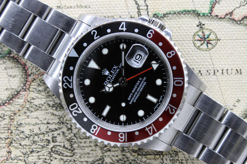 2004 Rolex GMT Master II Coke Ref. 16710 (Full Set)