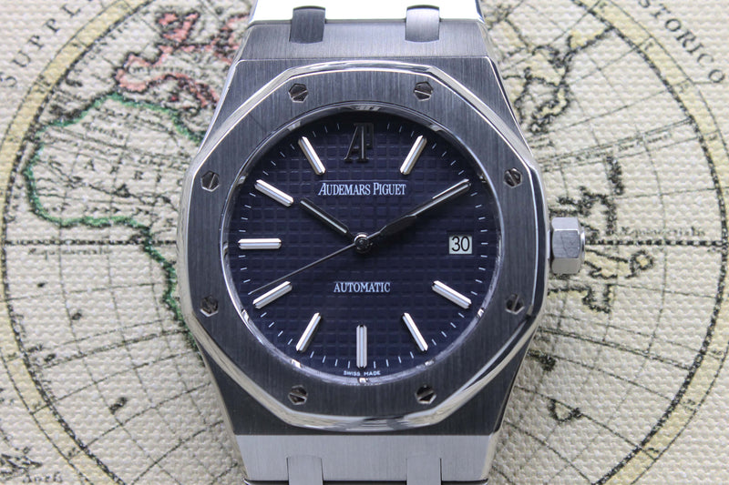 2010 Audemars Piguet Royal Oak Blue Dial Ref. 15300ST (Full Set)