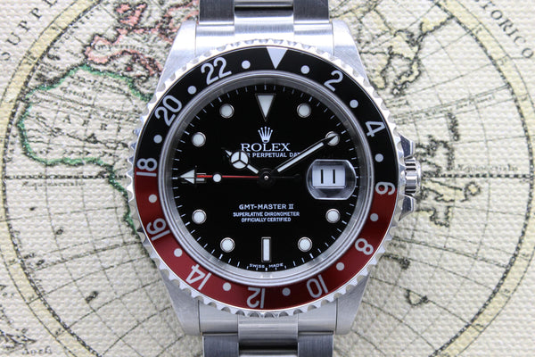 2001 Rolex GMT Master II Coke Ref. 16710 (Full Set)