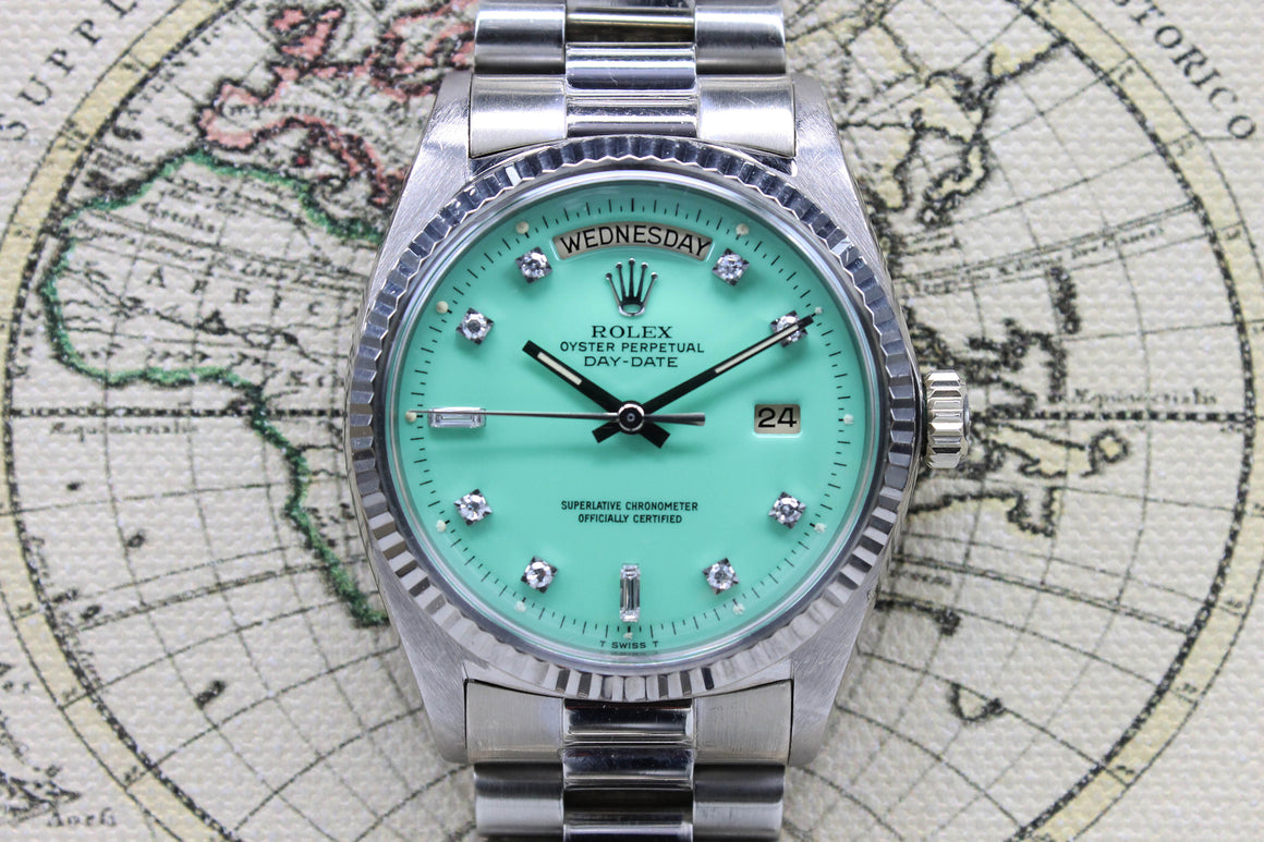 1972 Rolex Day Date Sea Foam Ref. 1803 (with Papers) - Price on Request