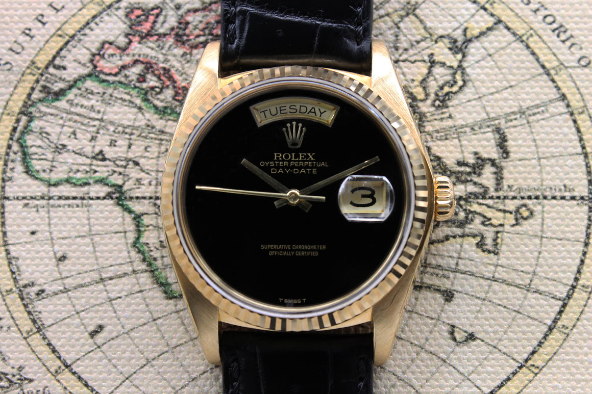 Rolex Day Date Onyx Dial Ref. 18038 Year 1979 (with Orig. Certificate)