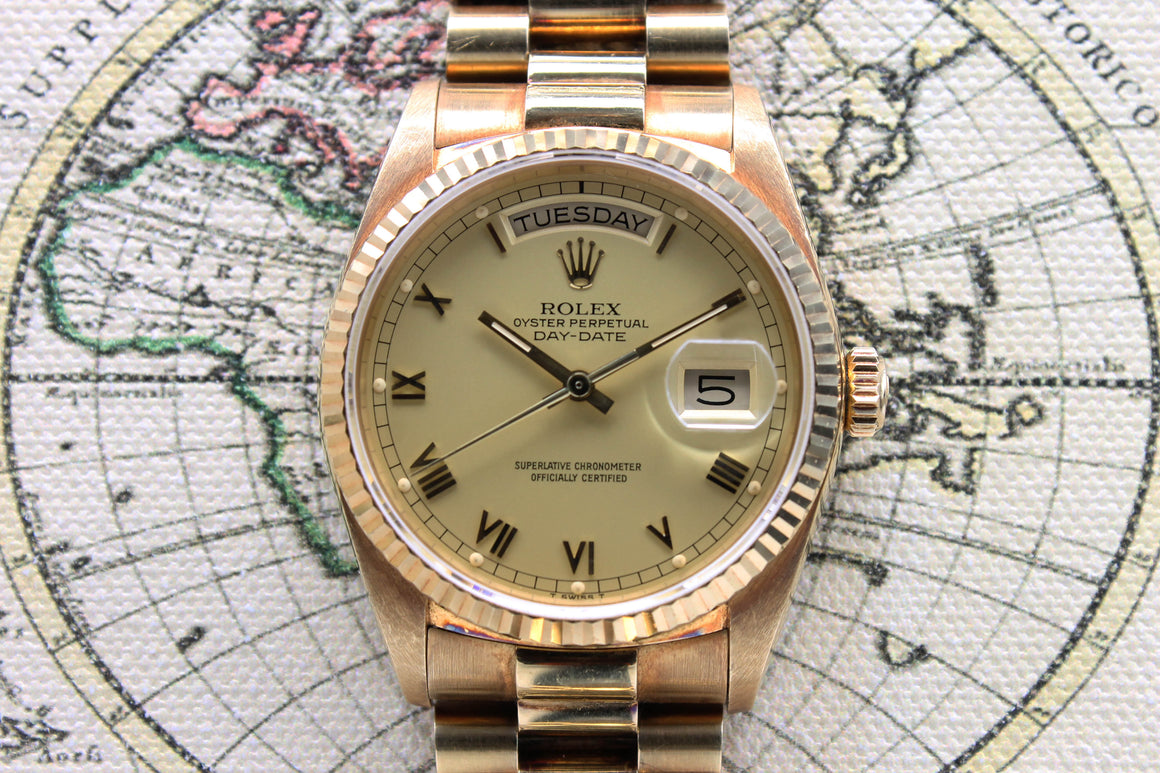 Rolex Day Date Ref. 18038 Year 1986 (Full Set)