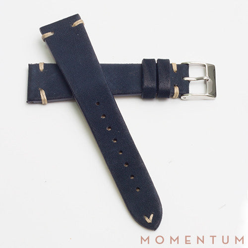 Vintage Strap Midnight Blue - Suede Leather - Momentum Dubai