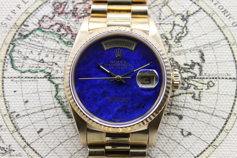 Rolex Day Date Lapis Ref. 18038 Year 1986
