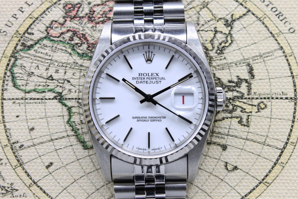 1987 Rolex Datejust Porcelain Ref. 16234 - Price on Request