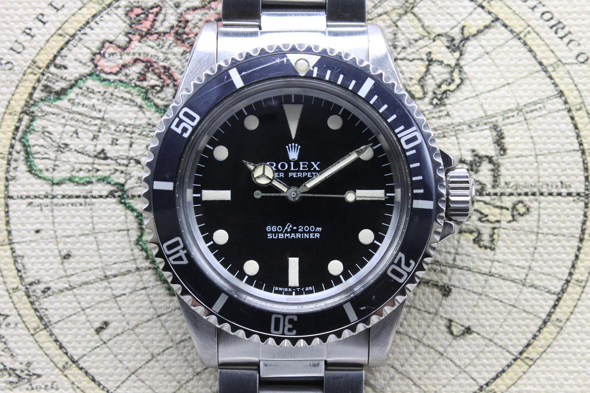 1975 Rolex Submariner 5513 Non-Serif Dial Ref. 5513 (Full Set)