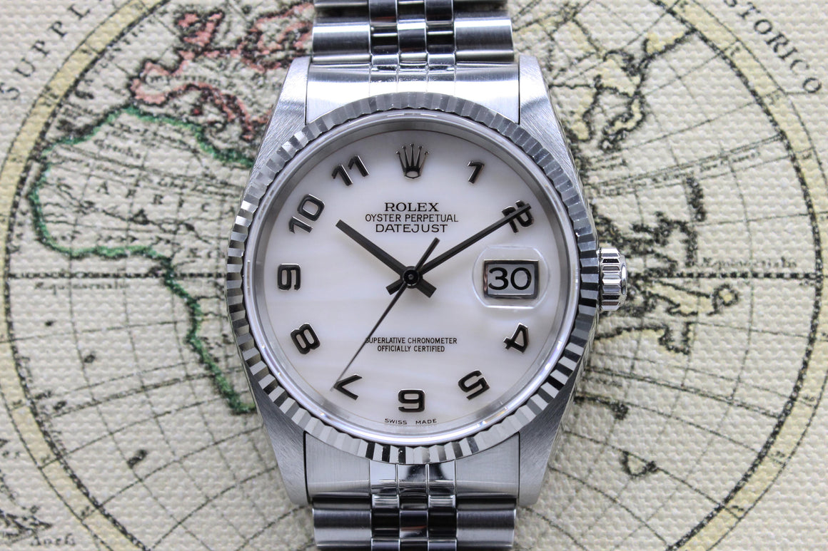1997 Rolex Datejust Pink Mother of Pearl Dial Ref. 16234 (with Papers)