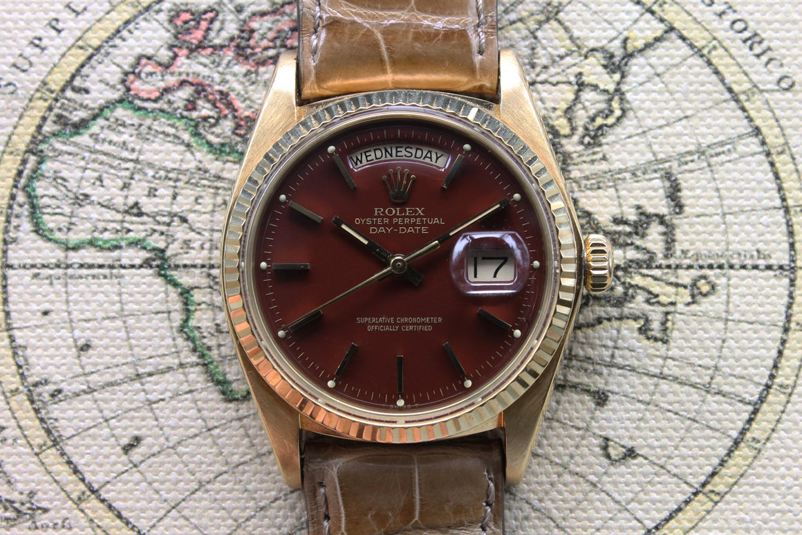 1974 Rolex Day Date Oxblood Stella Ref. 1803 (with Papers)