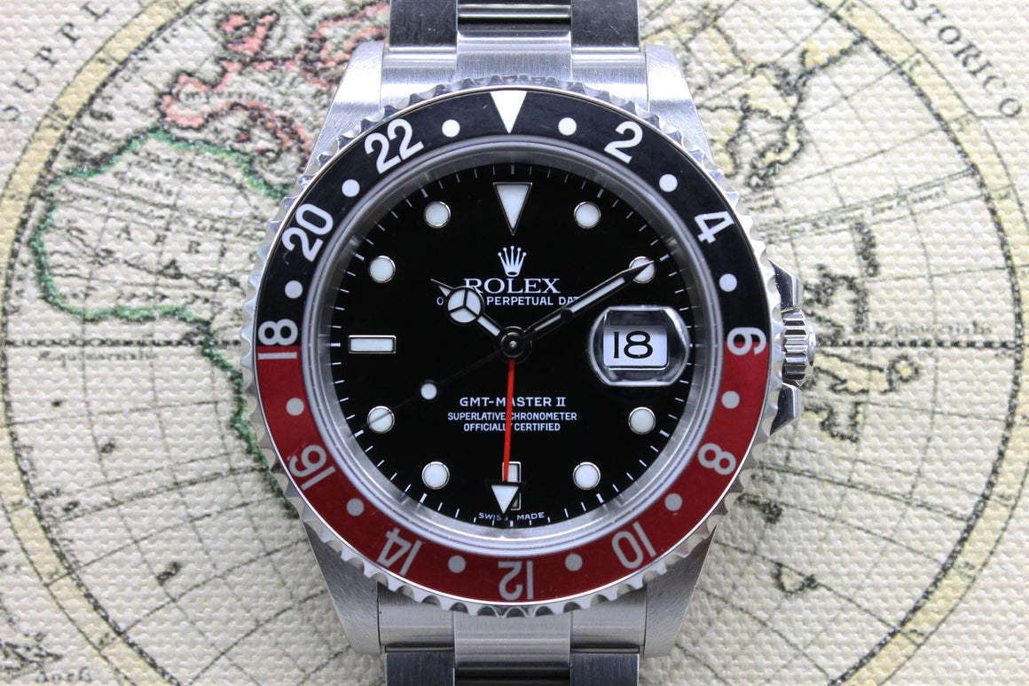 2005 Rolex GMT Master II Coke  Unpolished Ref. 16710 (with Papers)