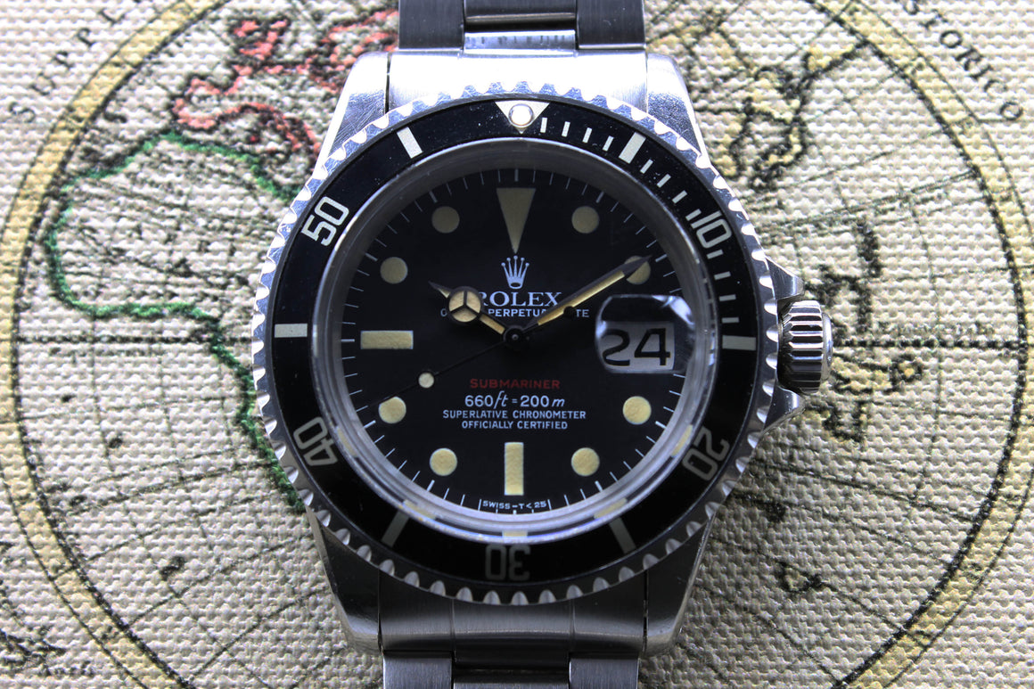 Rolex Red Submariner Ref. 1680 Year 1973 (Full Set)