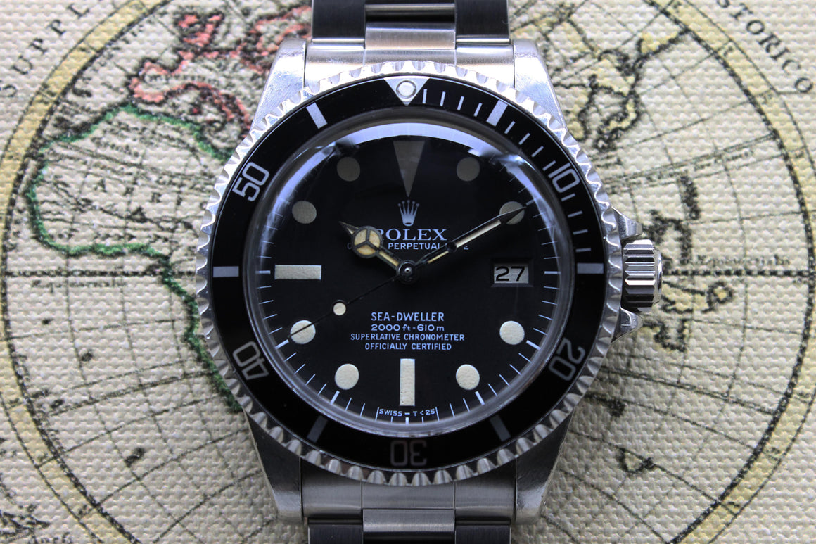Rolex Sea Dweller Great White MK1 Ref. 1665 Year 1980 (with Box and Papers)