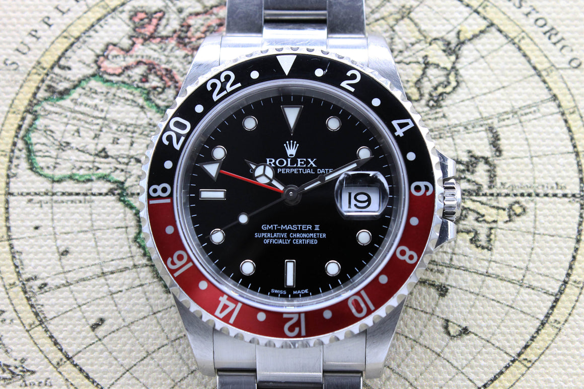 Rolex GMT Master II Ref. 16710 Year 2001 (Full Set)