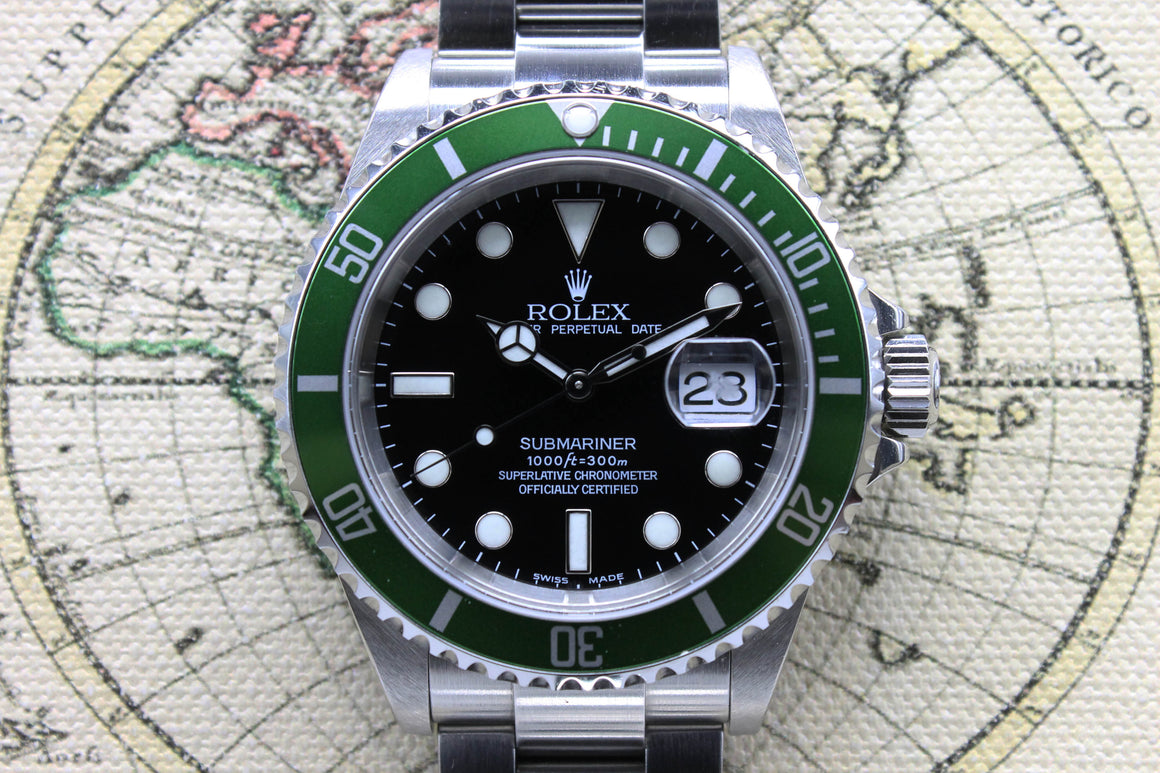 2004 Rolex Submariner 50th Anniversary Flat 4 Unpolished Ref. 16610T