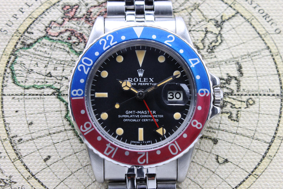 1971 Rolex GMT Master MK1 Ref. 1675 (Full Set)