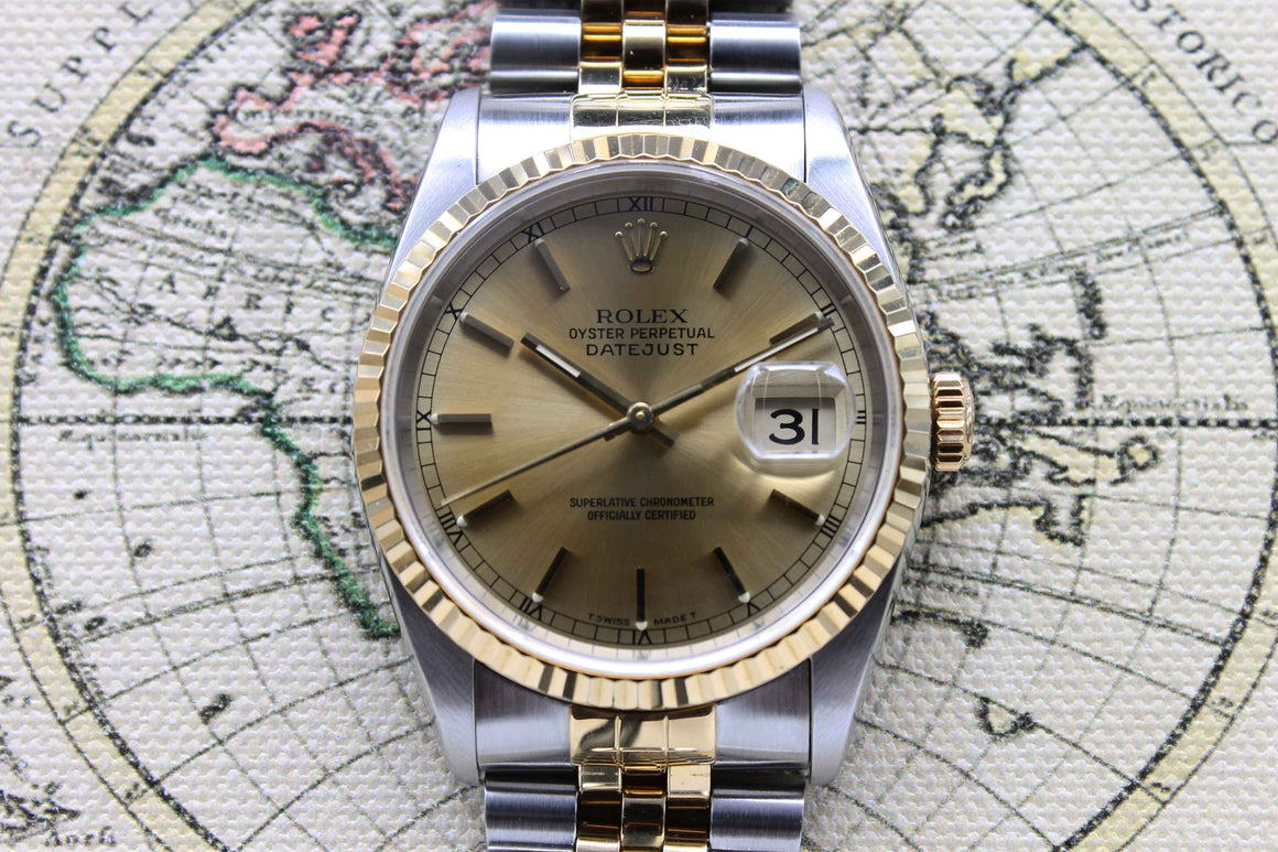 Rolex Datejust St/G Ref. 16233 Year 1996 (Full Set)