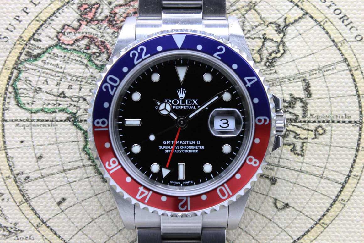 2005 Rolex GMT Master II Pepsi Unpolished Ref. 16710 (with Papers)