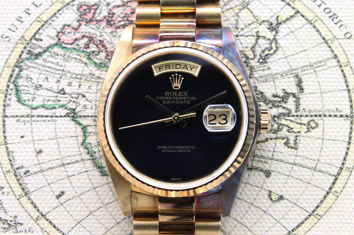 1982 Rolex Day Date Onyx NOS Ref. 18038 - Price on Request