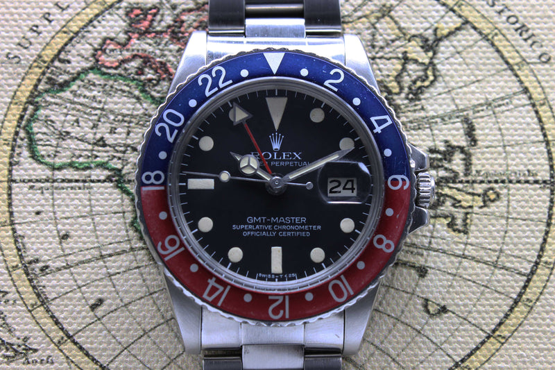 Rolex GMT Master Ref. 1675 Year 1978 (Full Set)