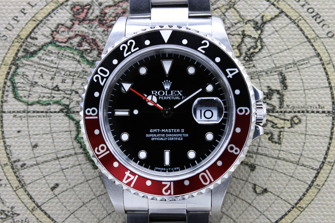 Rolex GMT Master II Coke Unpolished Ref. 16710 Year 1997 (Full Set)