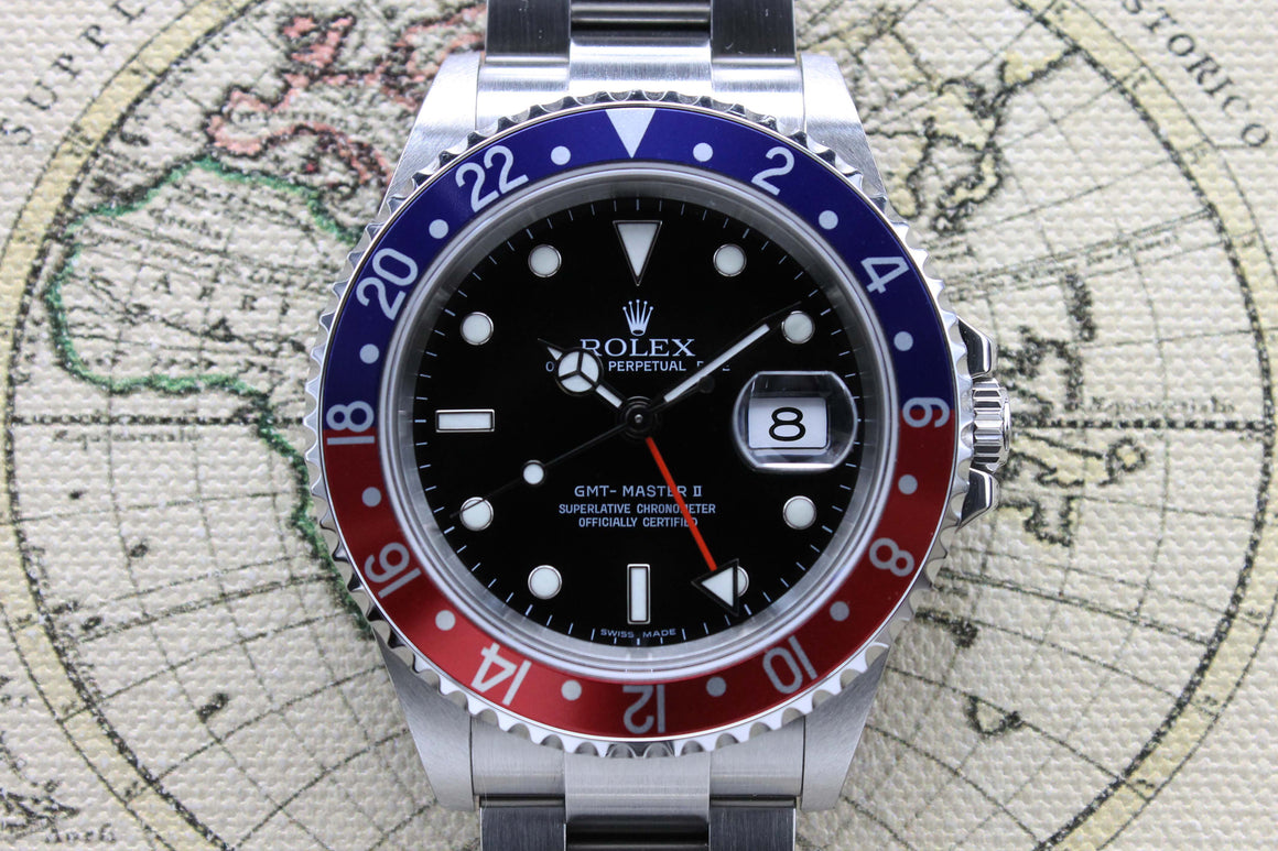 2006 Rolex GMT Master II Pepsi Ref. 16710 (Full Set)
