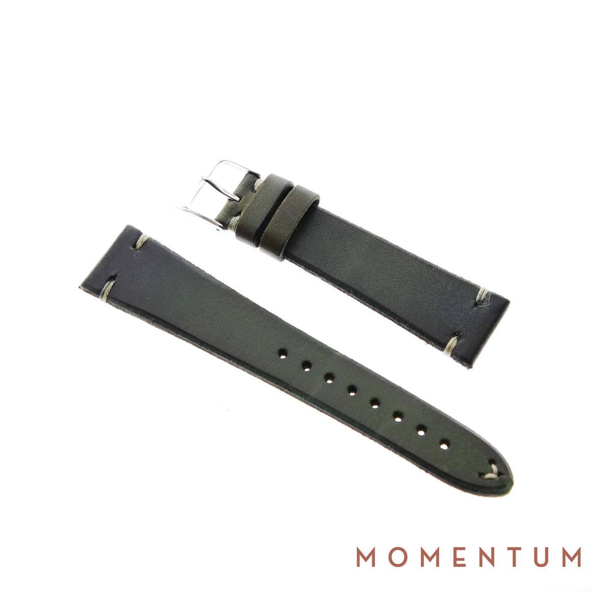 Vintage Strap - Olive Green - Calf Leather - Momentum Dubai