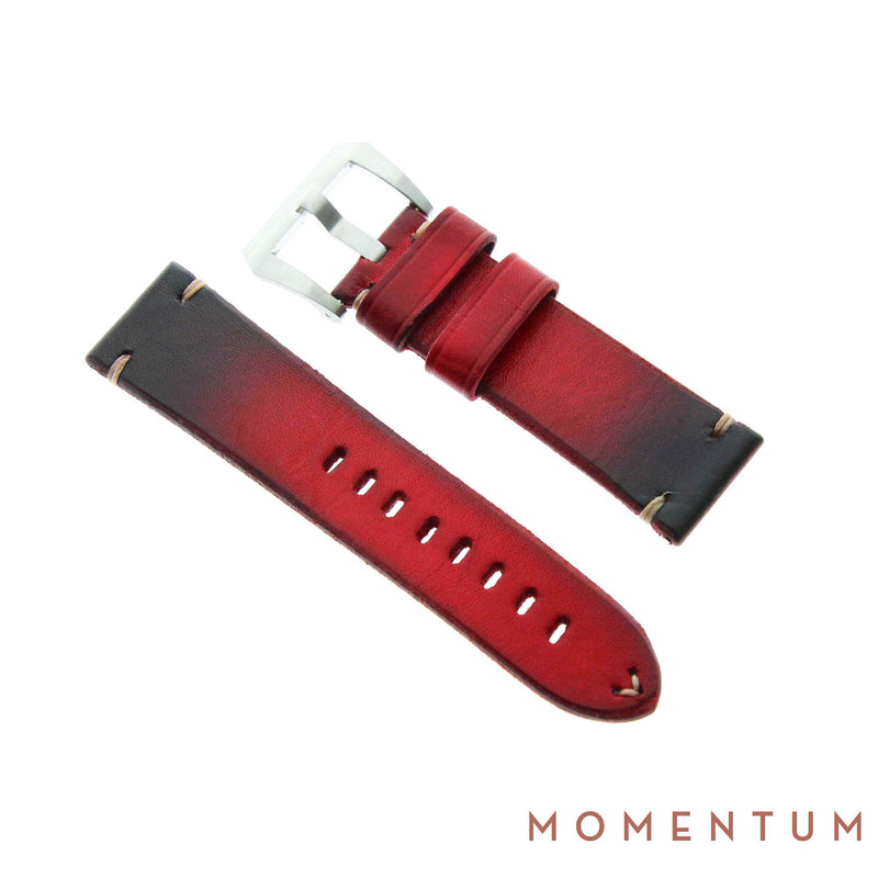 Vintage Strap - Red - Calf Leather - Momentum Dubai