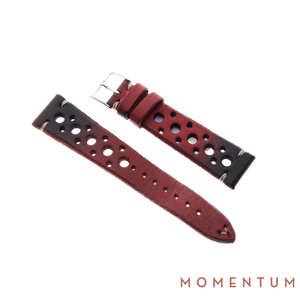 Vintage Strap - Red Berluti with holes - Calf Leather - Momentum Dubai