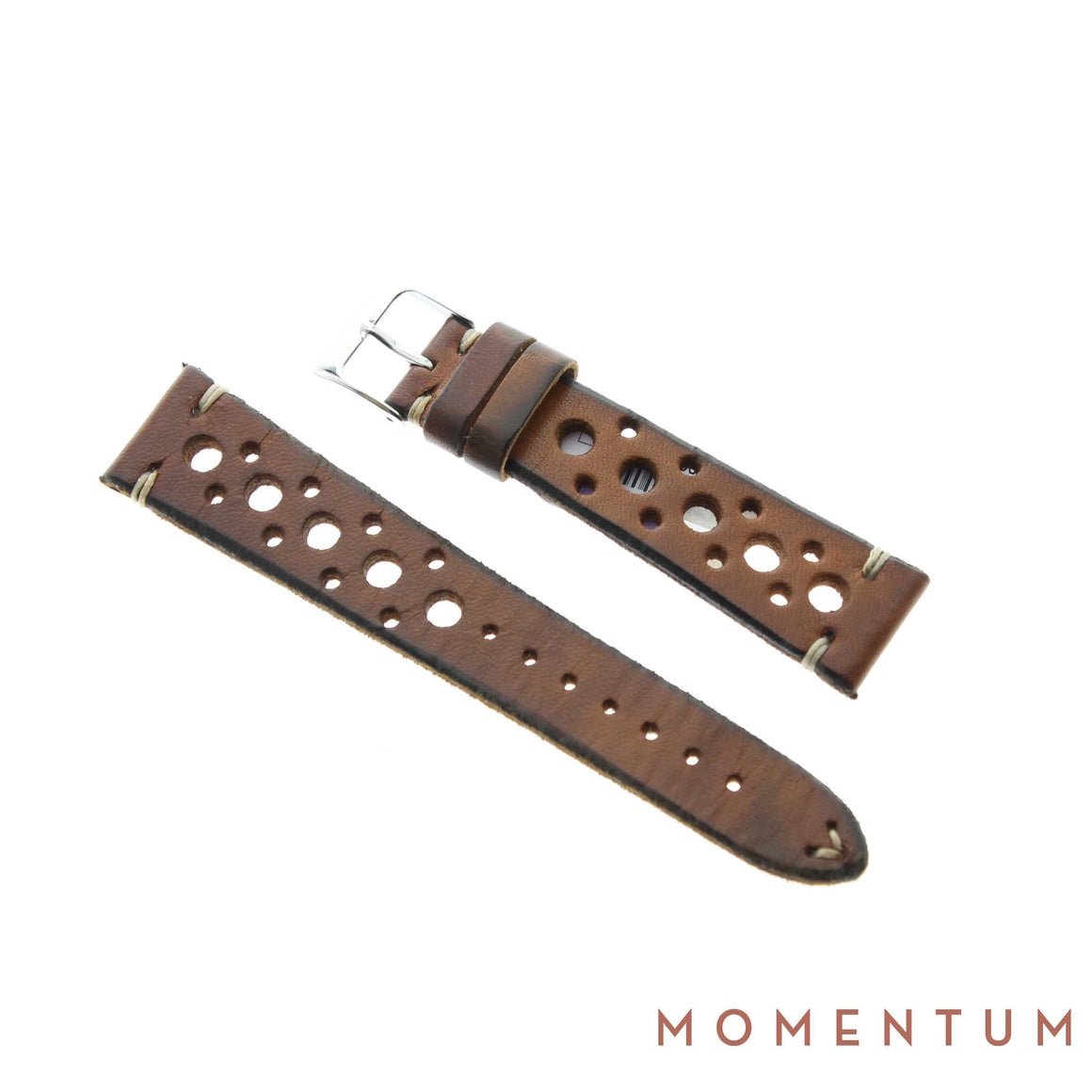 Vintage Strap - Beige Berluti style with holes - Calf Leather - Momentum Dubai