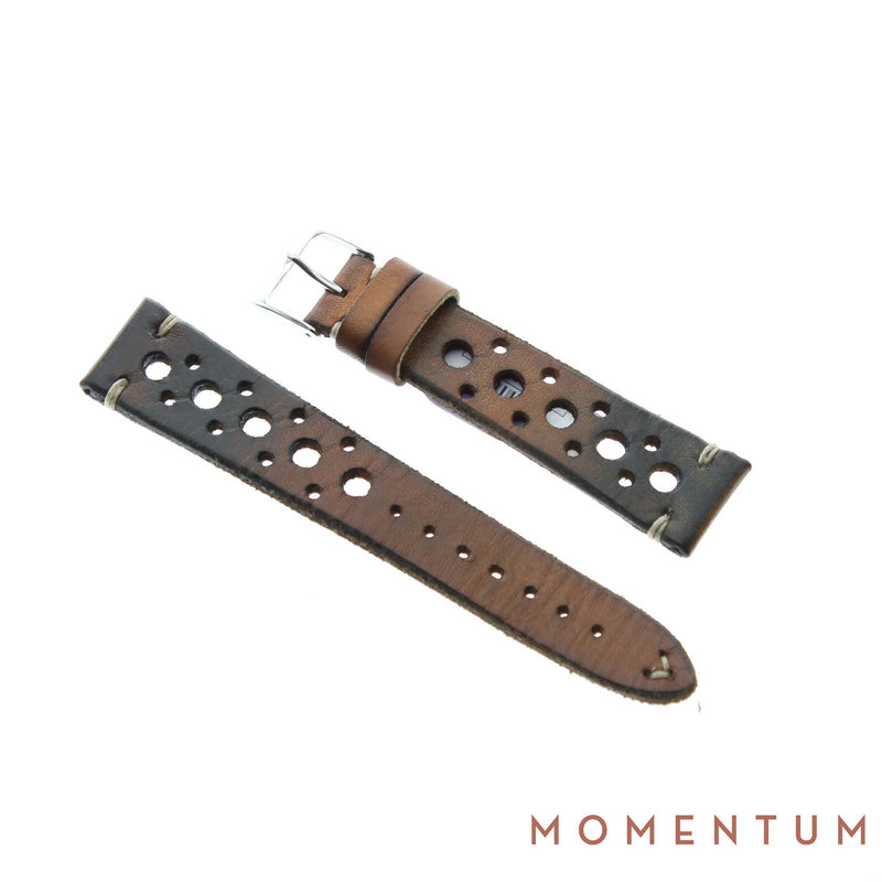 Vintage Strap - Gold Berluti style with holes - Calf Leather - Momentum Dubai
