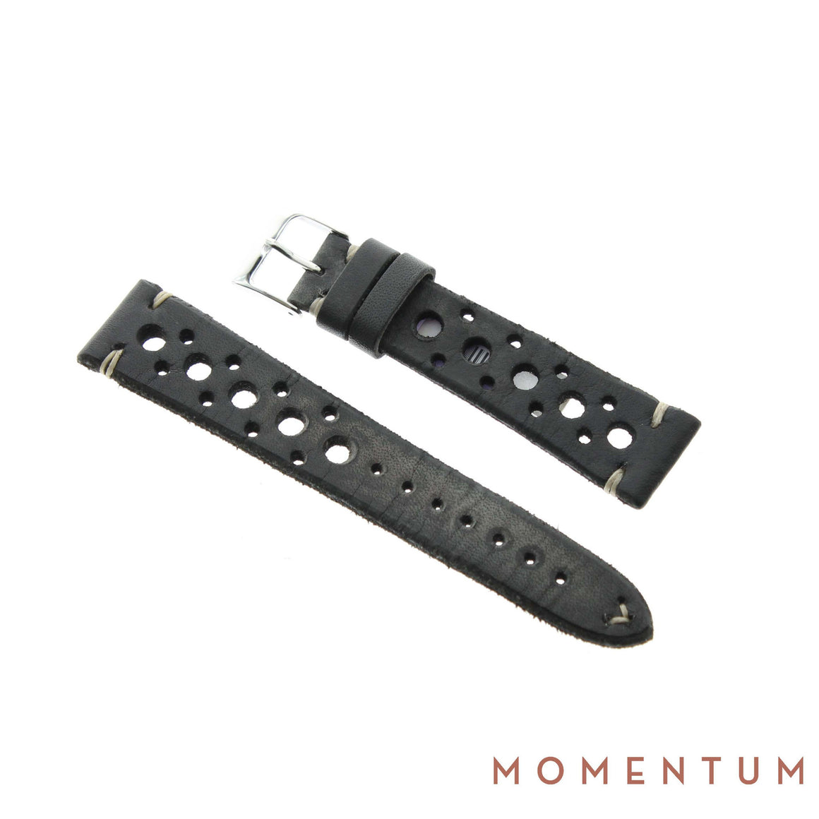 Vintage Strap - Gray Berluti style with holes - Calf Leather - Momentum Dubai