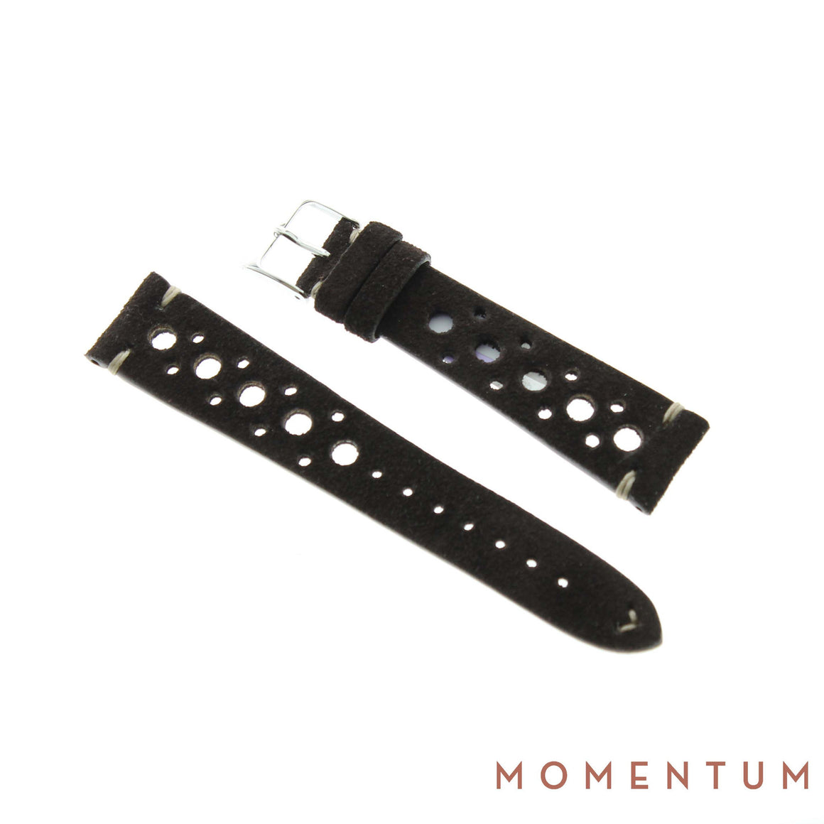 Vintage Strap - Dark Brown Suede with holes - Calf Leather - Momentum Dubai