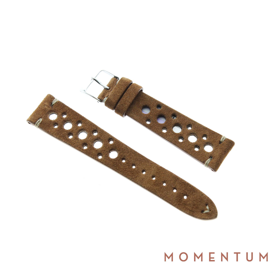 Vintage Strap - Chocolate Suede with holes - Calf Leather - Momentum Dubai