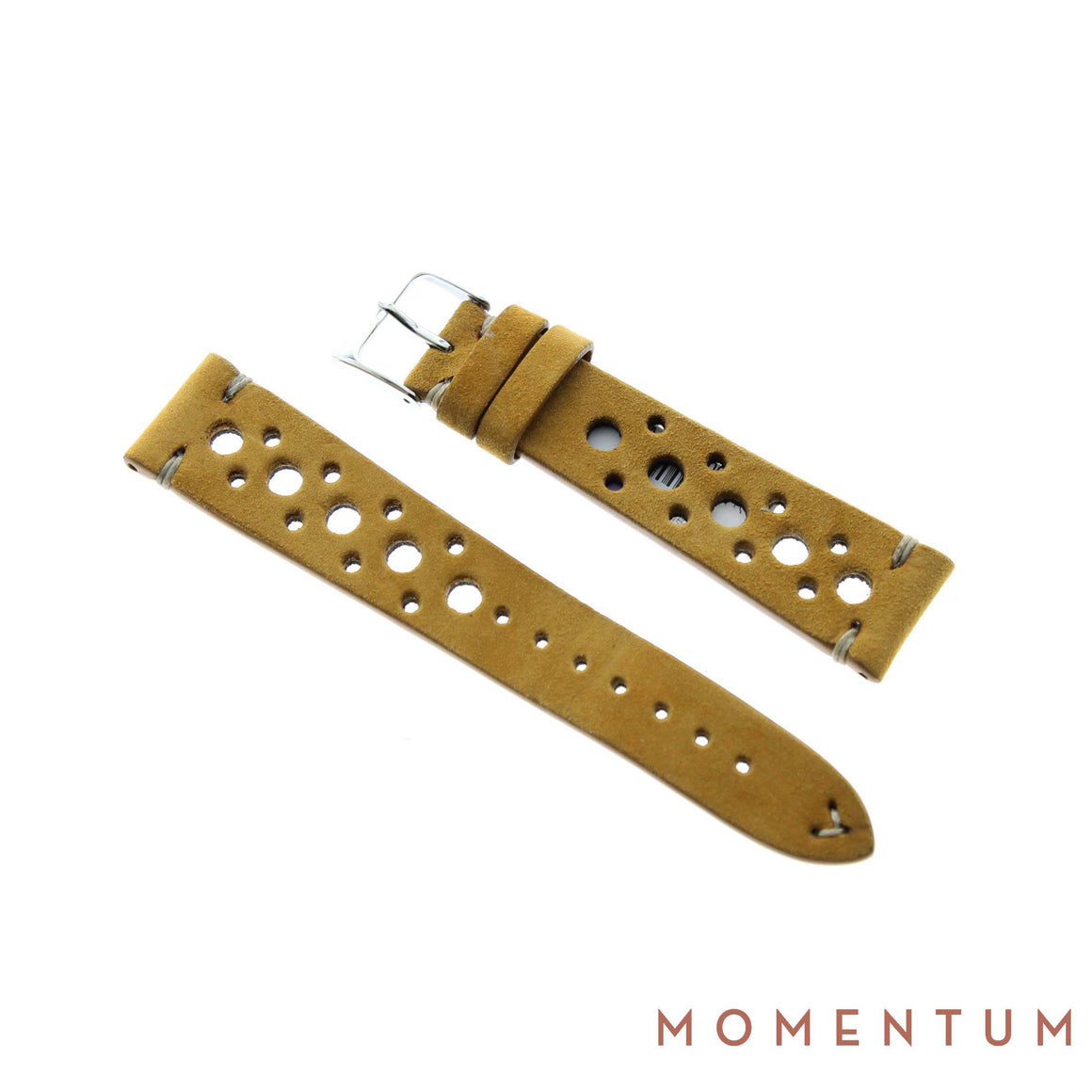 Vintage Strap - Tan Suede with holes - Calf Leather - Momentum Dubai
