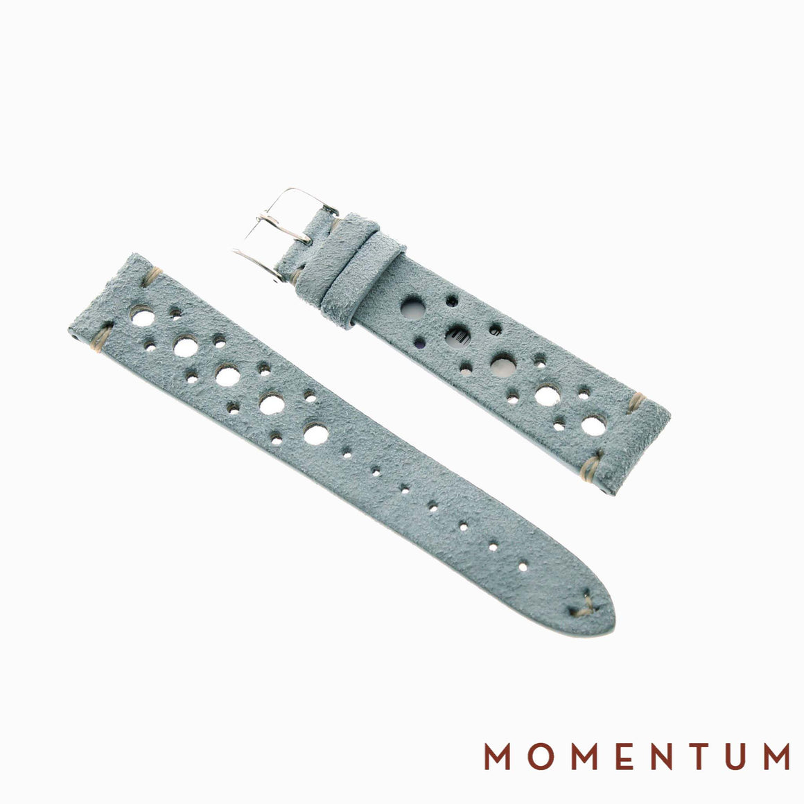 Vintage Strap - Baby Blue Suede with holes - Calf Leather - Momentum Dubai