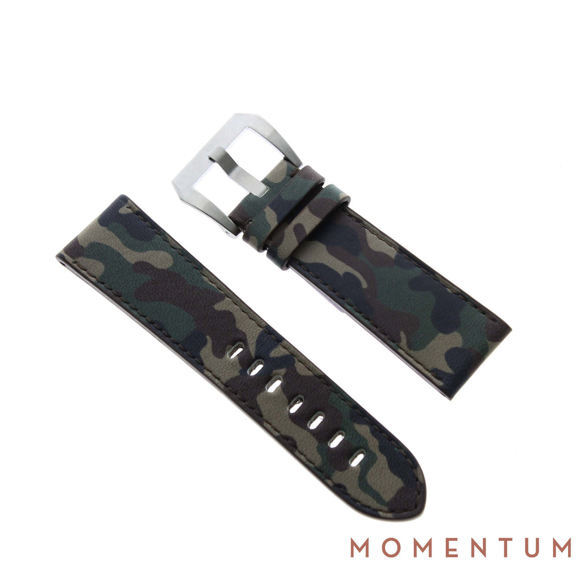 Vintage Strap - Brown Camouflage 24mm - Calf Leather - Momentum Dubai