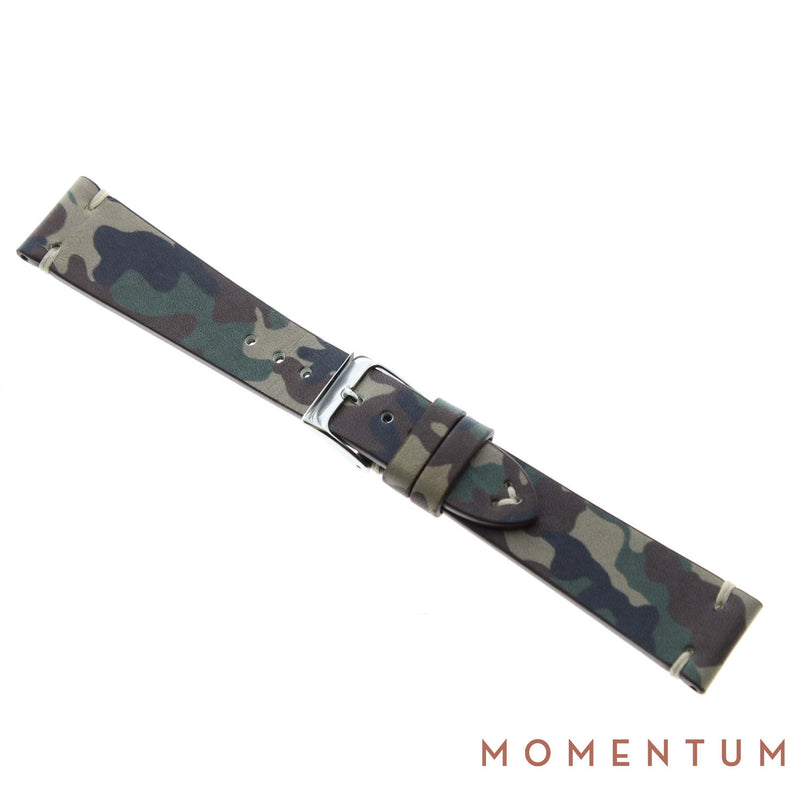 Vintage Strap - Brown Camouflage 20mm - Calf Leather - Momentum Dubai