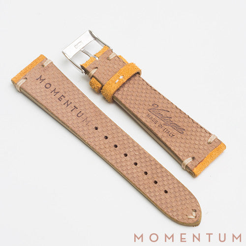 Vintage Strap Corn Yellow - Suede Leather - Momentum Dubai