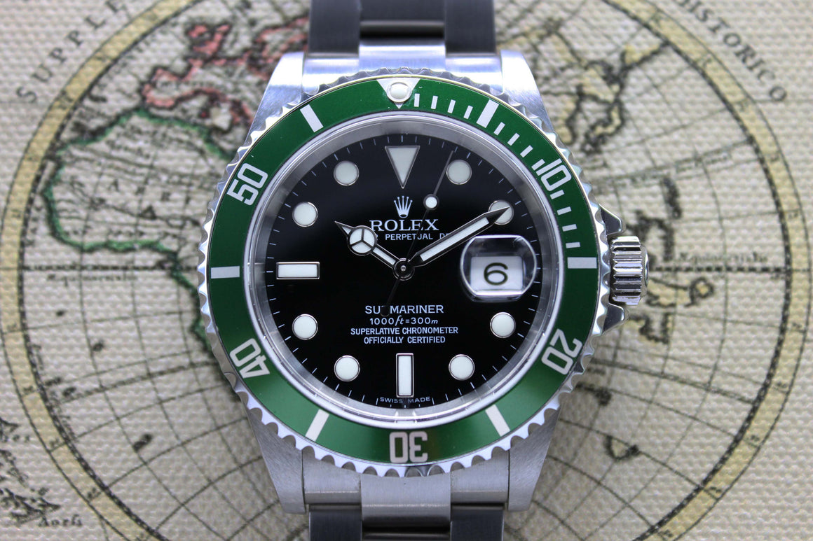 Rolex Submariner Anniversary NOS Ref. 16610LV Year 2006 (Full Set)
