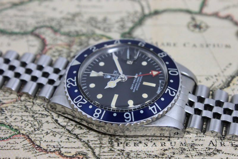 Rolex GMT Master MK3 Radial Blueberry Ref. 1675 Year 1978 (Full Set) - Price on Request