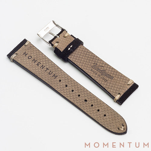 Vintage Strap Black - Suede Leather - Momentum Dubai