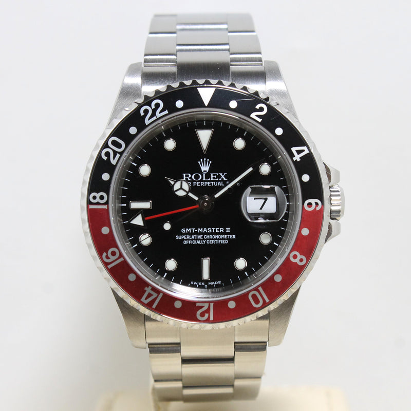 2004 Rolex GMT Master II Ref. 16710 (with Box & Certificate)