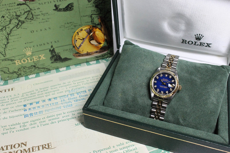 Rolex Datejust Ladies St/G Vignette Diamond Dial Ref. 69173 Year 1989 (Full Set)